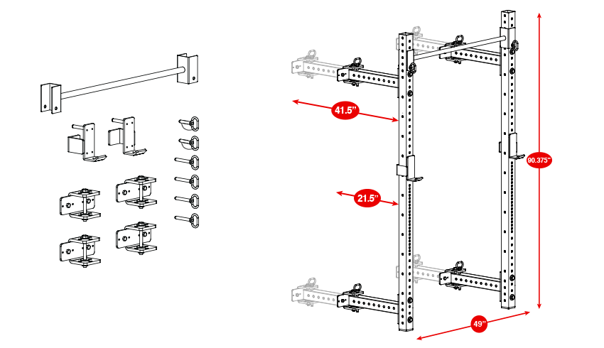 squat rack diagram