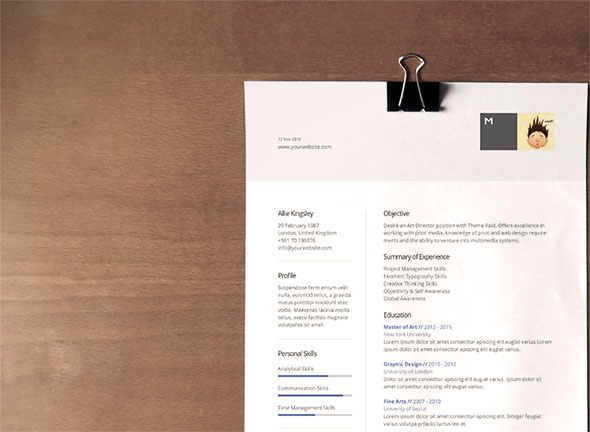 25 Best Free CV Templates PSD, AI, Word DocX Rogue Pony