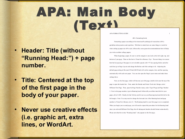 research paper per apa documentation style protocols Resource offers examples for the general format of apa research papers, in-text citations and the reference page paper format: below are some basic guidelines for formatting a paper in apa style use these guidelines if  guidelines for preparing and formatting apa essays and research papers for.