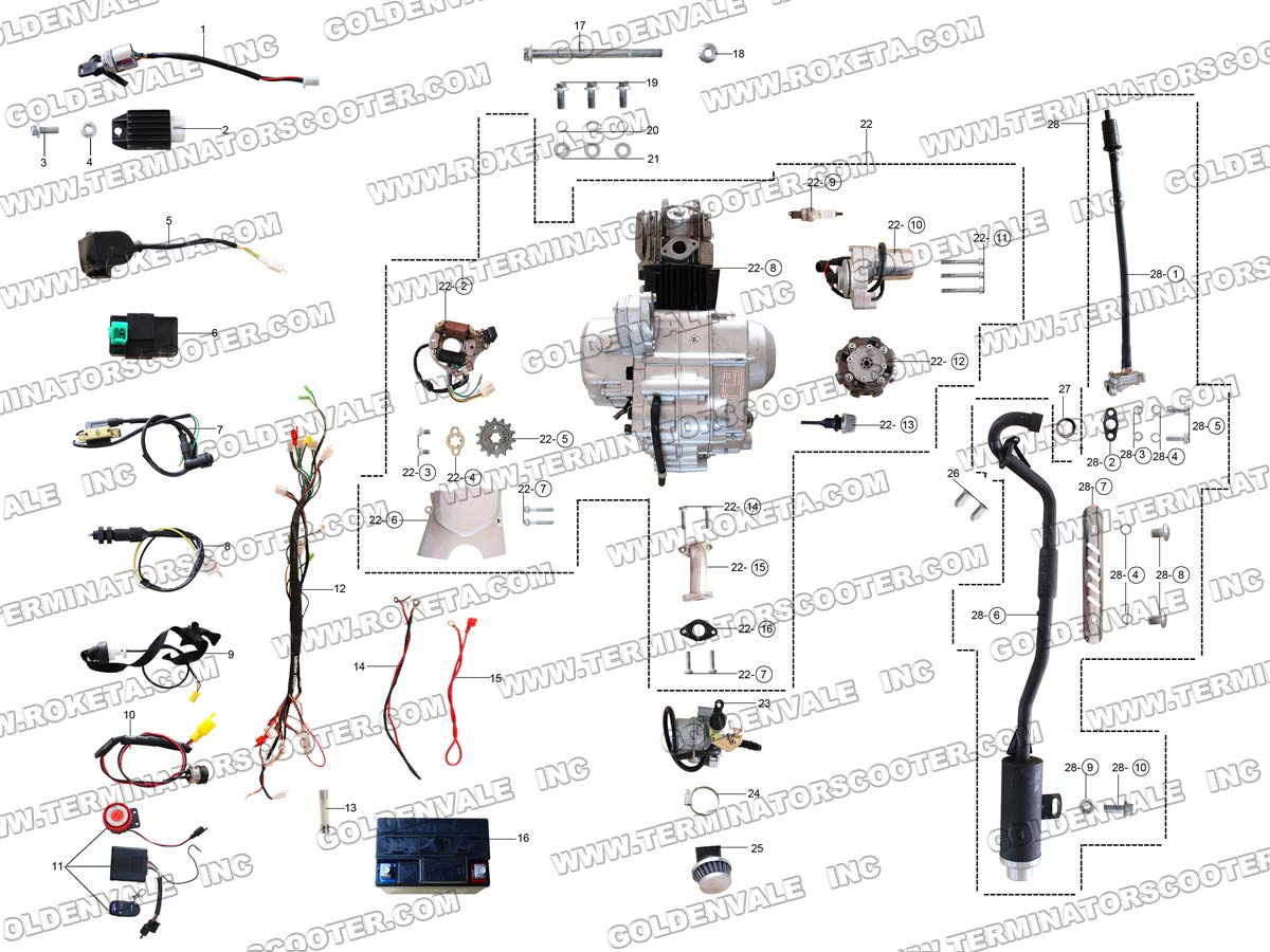 taotao engine diagram
