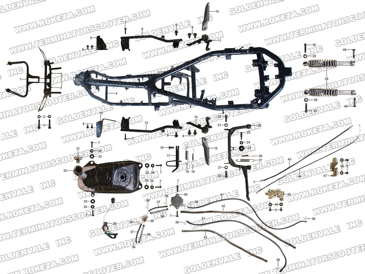 Roketa 250cc Go Kart Wiring Diagram Libraries 50cc Scooter Cm 16 50 Free Picture Diagramsroketa