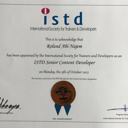 Certificates Roland Abi Najem