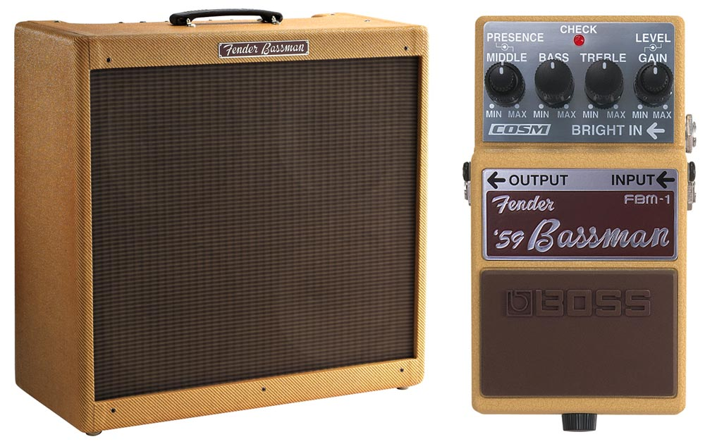 BOSS FBM-1 and Fender '59 Bassman Amp