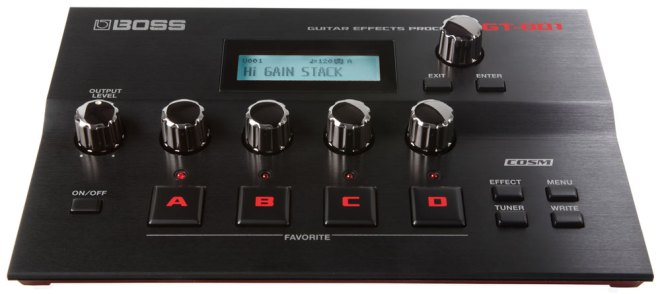 BOSS GT-001 Guitar Effects Processor Front Panel