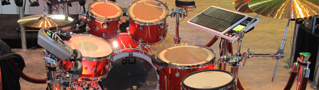 DW Acoustic Drum Kit with Roland Triggers