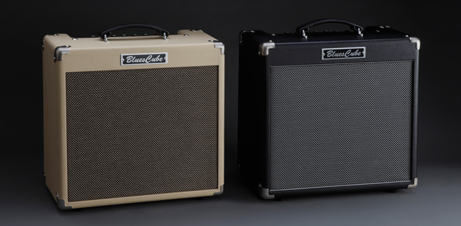 The Blues Cube Hot is available in Vintage Blonde or Black