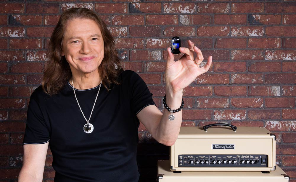 Robben Ford with his signature Tone Capsule
