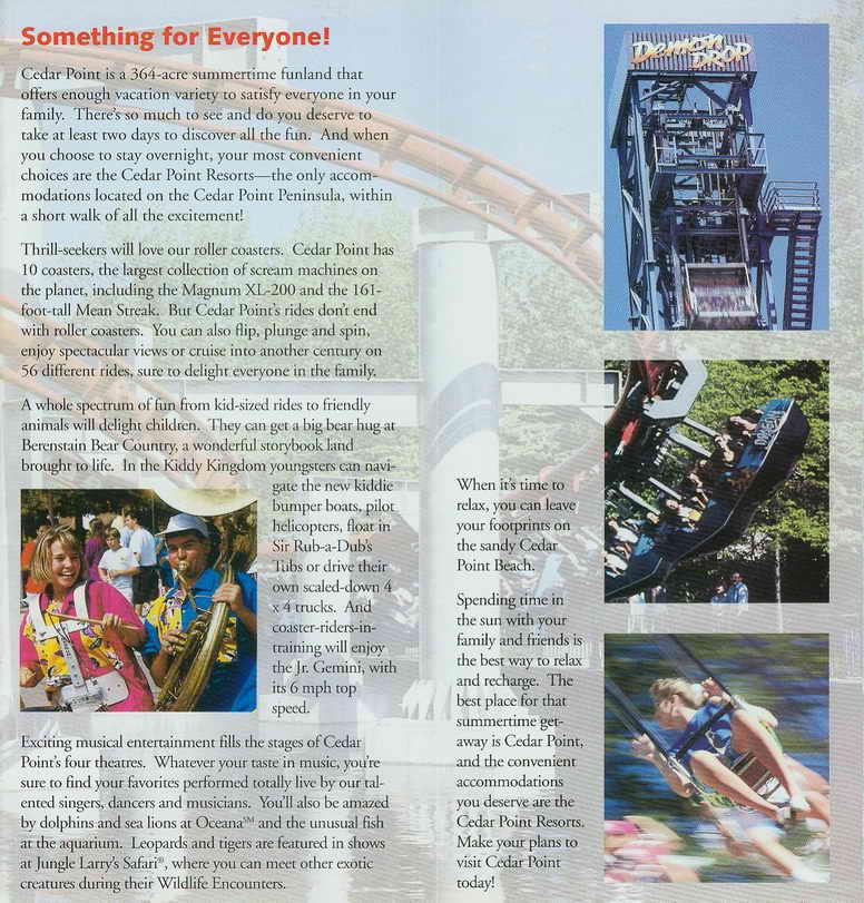 1993 Cedar Point Resort Brochure