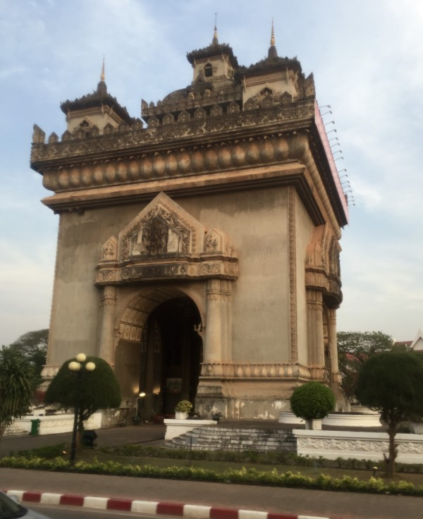 Vientiane's Arc de Triomphe, Built by the French