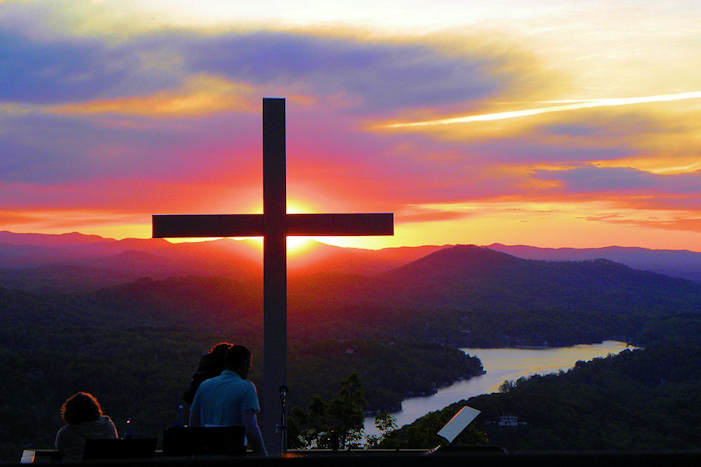 Fall Smoky Mountains Wallpaper Easter Sunrise Service At Chimney Rock