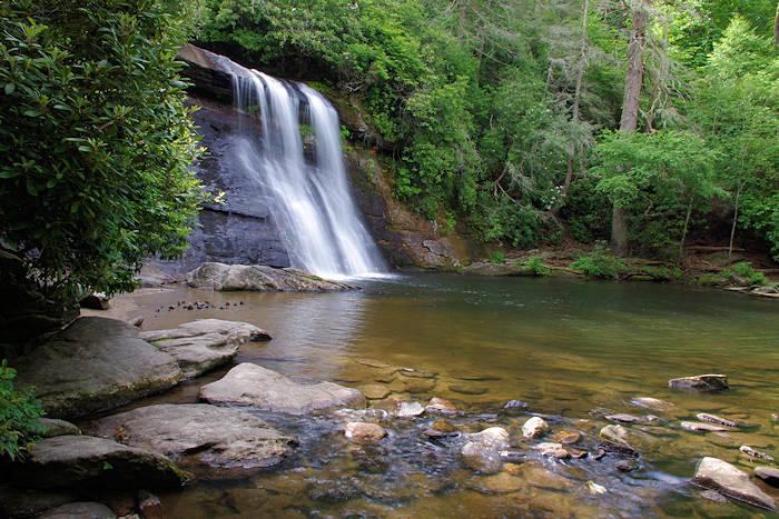 Looking Glass Falls Wallpaper Sliding Rock North Carolina