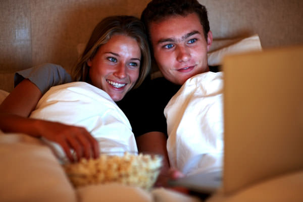 Romantic Movies in Couch Together
