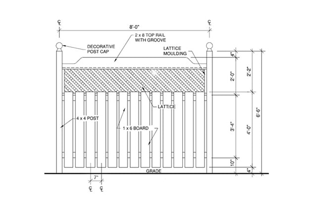 diagram of fence
