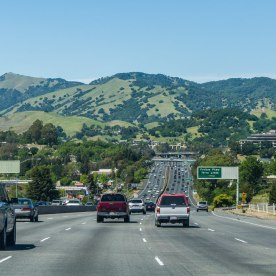 On the way to park on I-880 N.