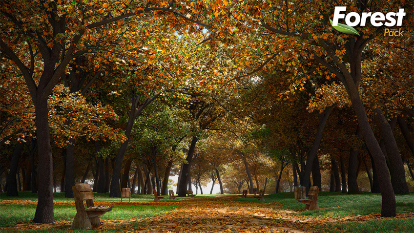 3d Wallpaper Making Software Free Download Free Autumn 3d Tree Park Vray Amp Mental Ray Scenes