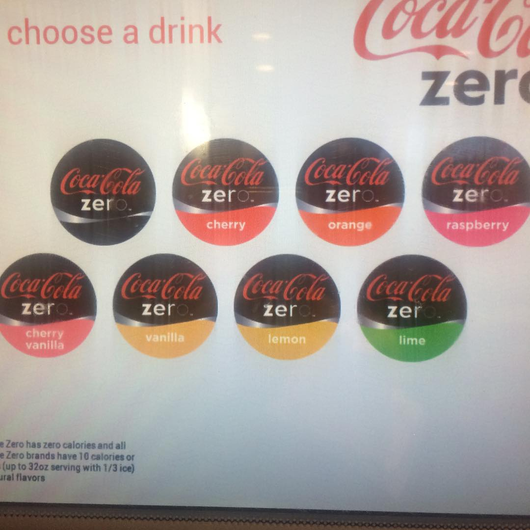 Pretty cool! #Coke #zero #flavors #usa