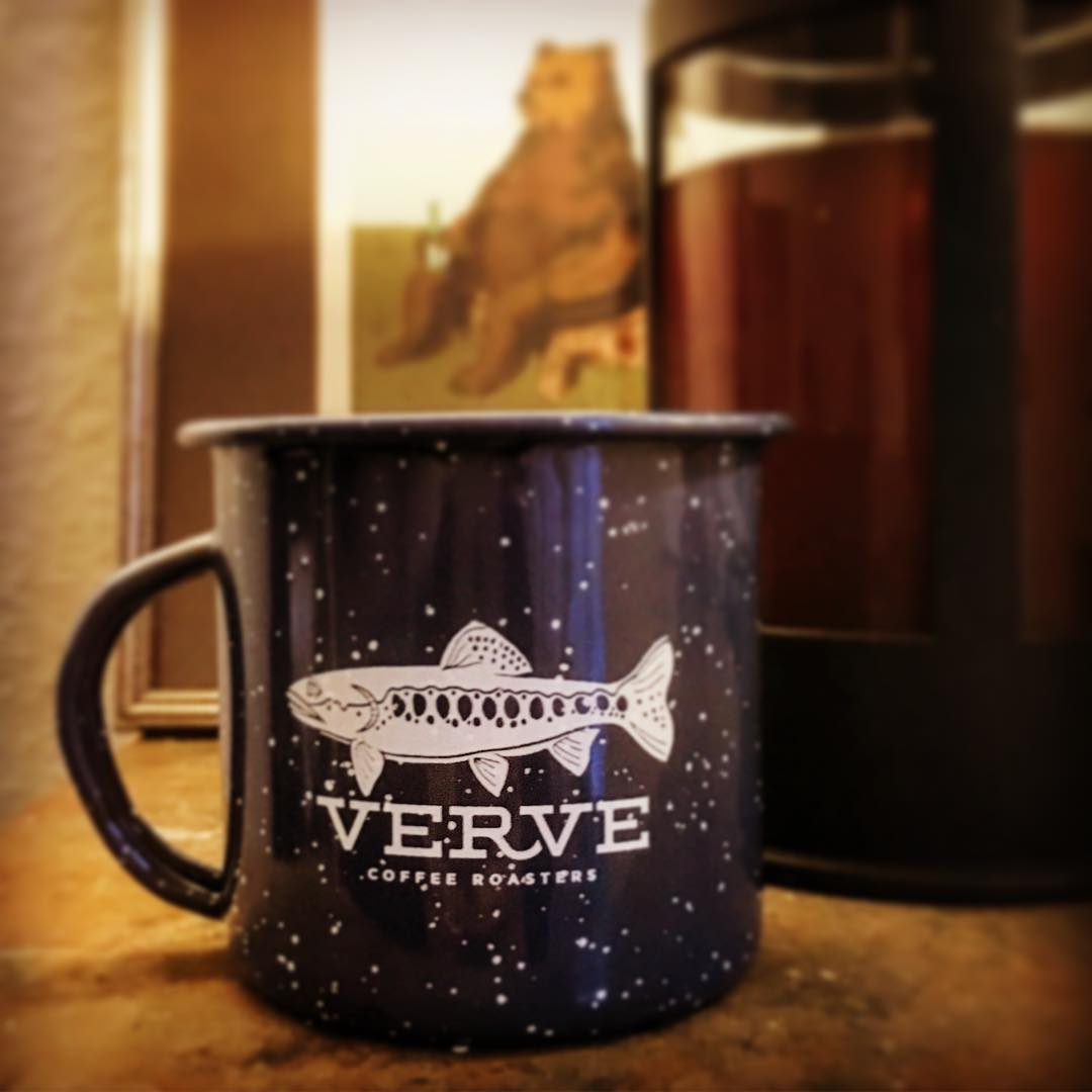 Aah! Forgot about my lovely mug all the way from Santa Cruz @vervecoffee filled with @playgroundcoffee s dirty berry #frenchpress #germany #düsseldorf