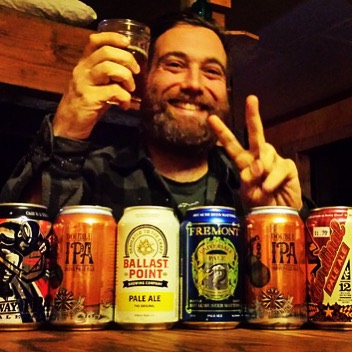 A wild friendly feral lumberjack is very happy about a craftbeer care package from Seattle! Still thankful Miguel and Cori #cabinlife #bushlife #lastfrontier #california #usa