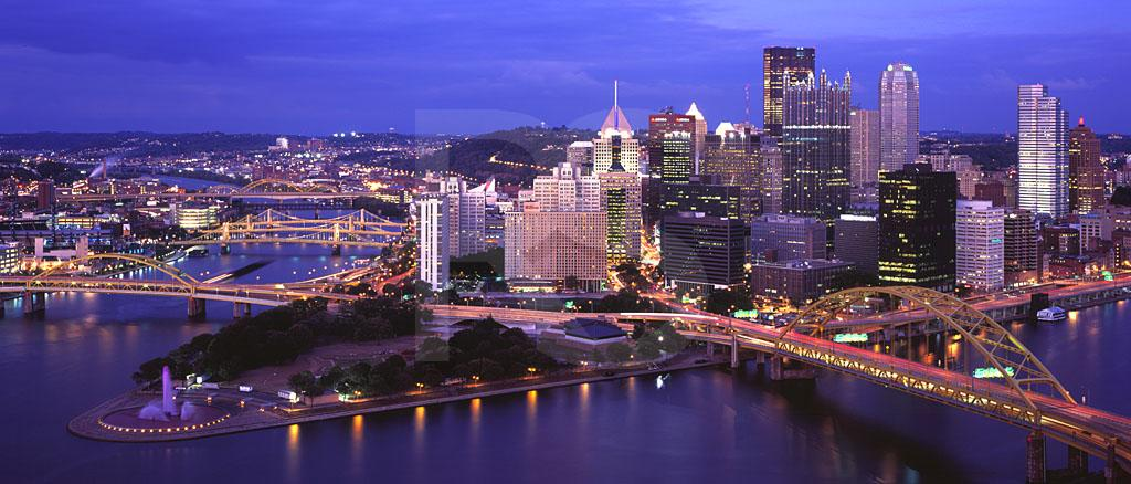 4k Fall Michigan Wallpaper Pittsburgh Skyline At Dusk Panoramic