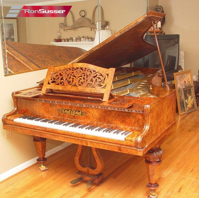 Collard  Collard Vintage Rare 19th Century Concert Grand Piano