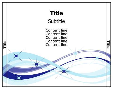 Free download CD insert template, print CD inserts, make CD insert