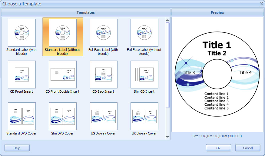 How to print a CD label