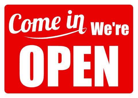 Download open sign template, how to design we are open sign, door
