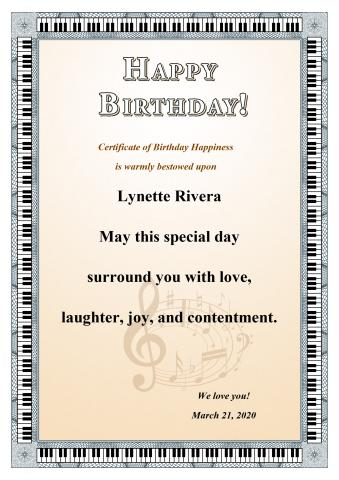 Birthday Certificate template, How to print a Birthday Certificate