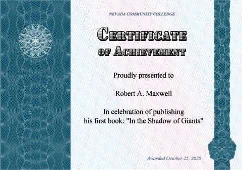 Certificate of Achievement template, How to make a Certificate of
