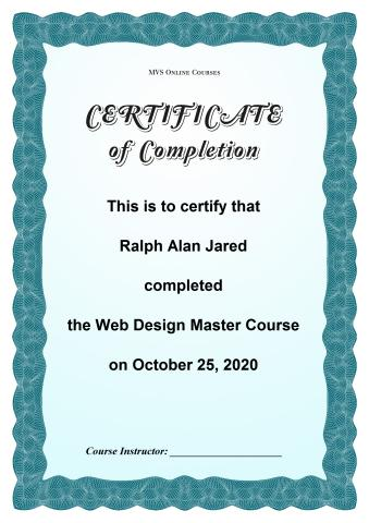 Download certificate of completion template, print course completion