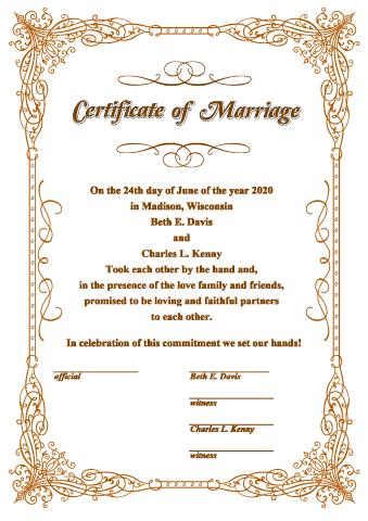 Wedding Certificate template, How to create a Wedding Certificate
