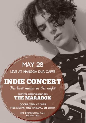 Indie Concert poster template, How to design an Indie Concert poster