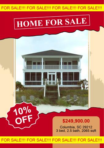 Home for Sale poster template, How to design a Home for Sale poster - for sale poster template