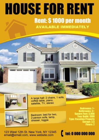 house for rent template - Selol-ink