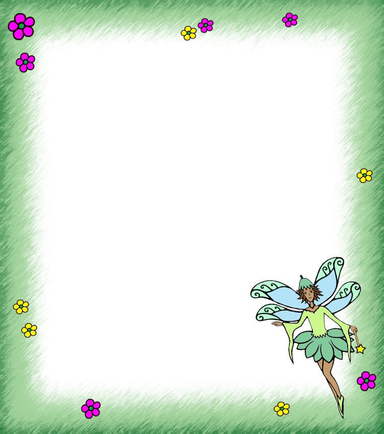 Blank Fairy Notepaper (green) Rooftop Post Printables