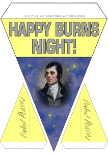 Burns Supper Decoration: Bunting