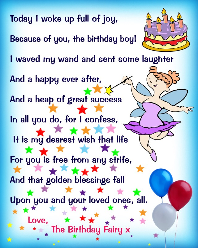 Roald Dahl Quotes Wallpaper Birthday Fairy Poem Message For A Boy Rooftop Post