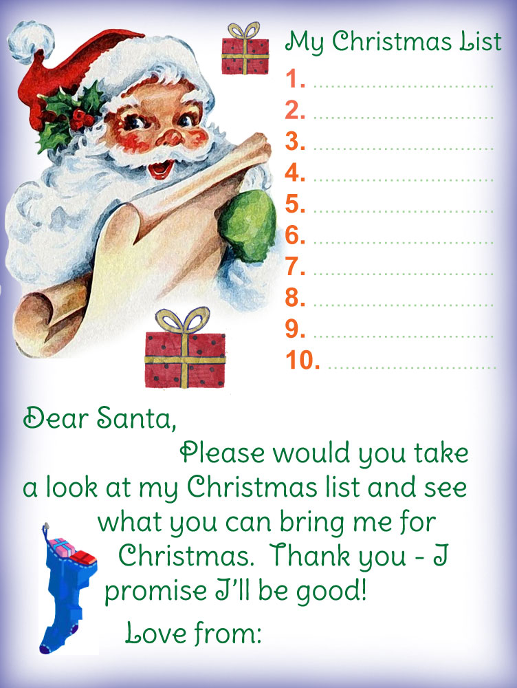 free letter to father christmas template