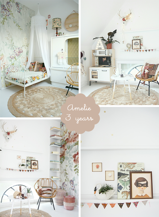 Pale Pink Wallpaper For Girl Nursery Romantic Boho Girls Bedroom Amelie Room To Bloom