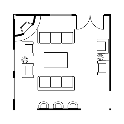11. The Peaceful Host Living Room Floor plan