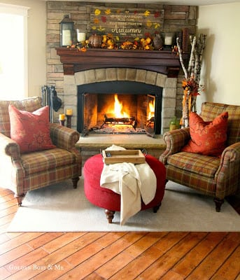 4. Crackling Fire Living Room Layout