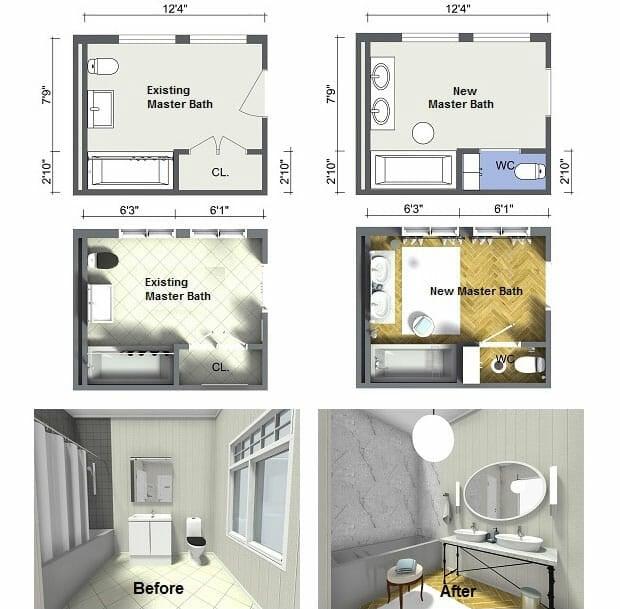 Plan Your Bathroom Design Ideas with RoomSketcher Roomsketcher Blog - copy bathroom blueprint maker