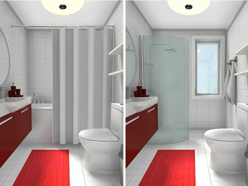 10 Small Bathroom Ideas That Work Roomsketcher Blog - narrow bathroom ideas