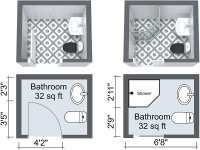 10 Small Bathroom Ideas That Work | Roomsketcher Blog