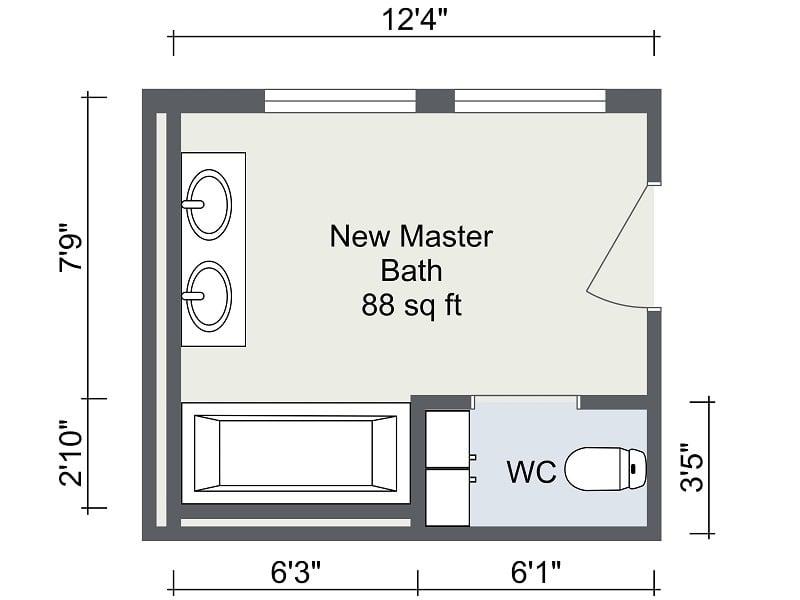 Bathroom Remodel RoomSketcher