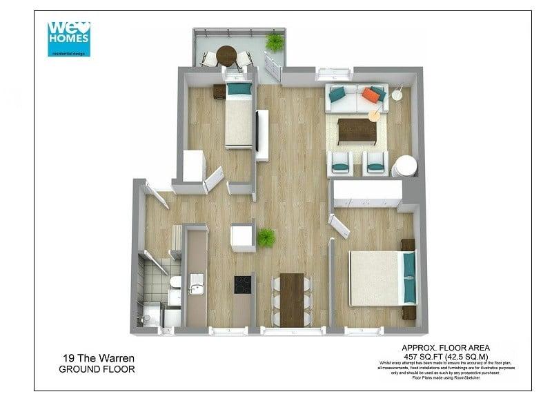3D Floor Plans RoomSketcher - 3d house plans