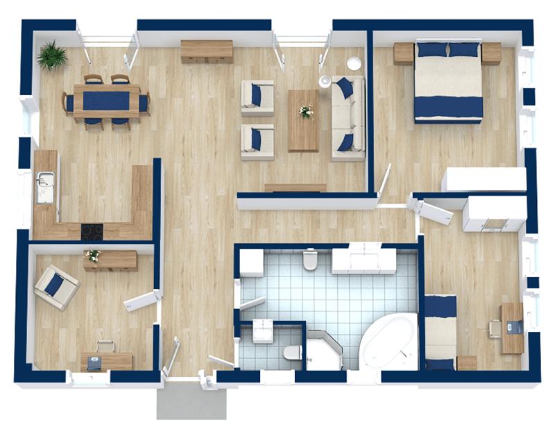 4 Bedroom Floor Plans RoomSketcher