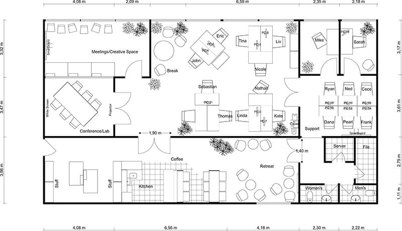 Office Floor Plans RoomSketcher   office plansOffice Plans  site plans submitted for the offices at barclay  . Open Office Floor Plan Designs. Home Design Ideas