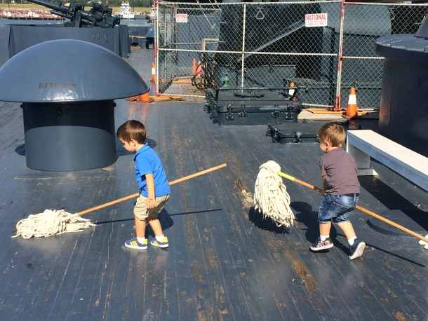 New recruits on the Battleship Texas