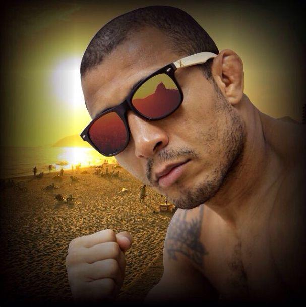 Jose Aldo Crossed gafas de sol de madera